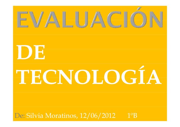 Evaluación de Tecnología