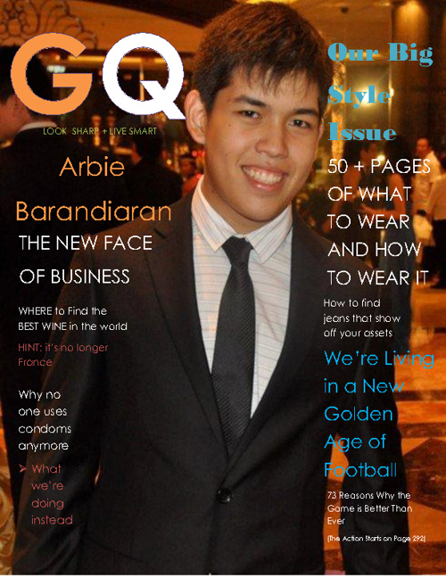 GQ arbie Magazine Cover