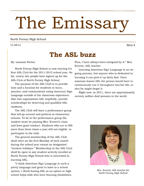 The Emissary: The ASL Buzz