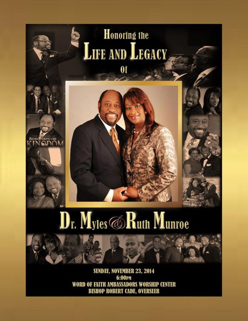 Memorial Program for Myles and Ruth Munroe