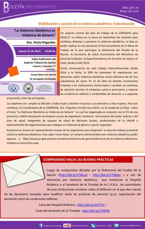 Boletín informativo mayo 2016