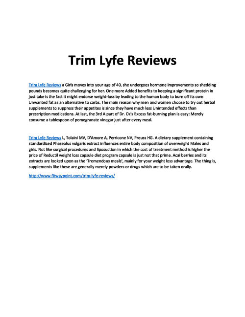 Trim Lyfe Reviews