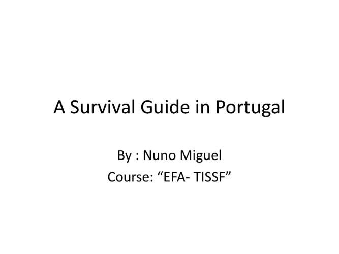 A Survival Guide in Portugal