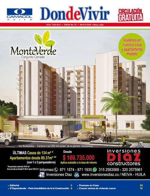Revista DondeVivir Camacol Abril 2016