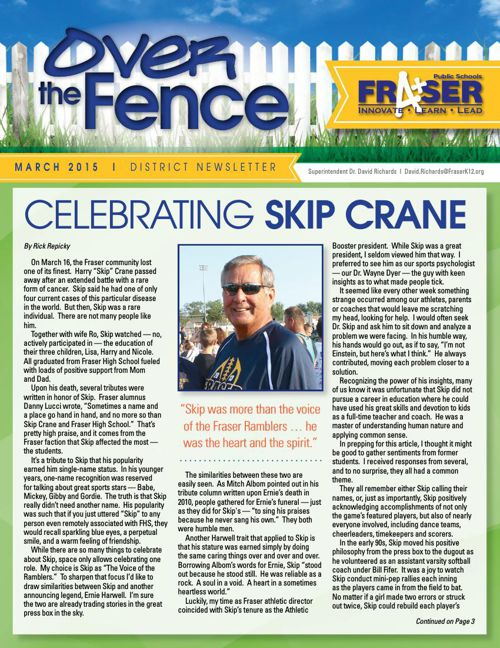 Over the Fence- March 2015