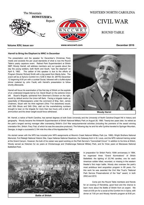 2016 12 WNCCWRT Newsletter December