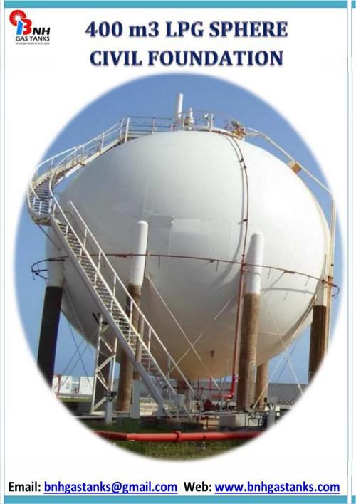 400 m3 LPG Sphere Civil Foundation