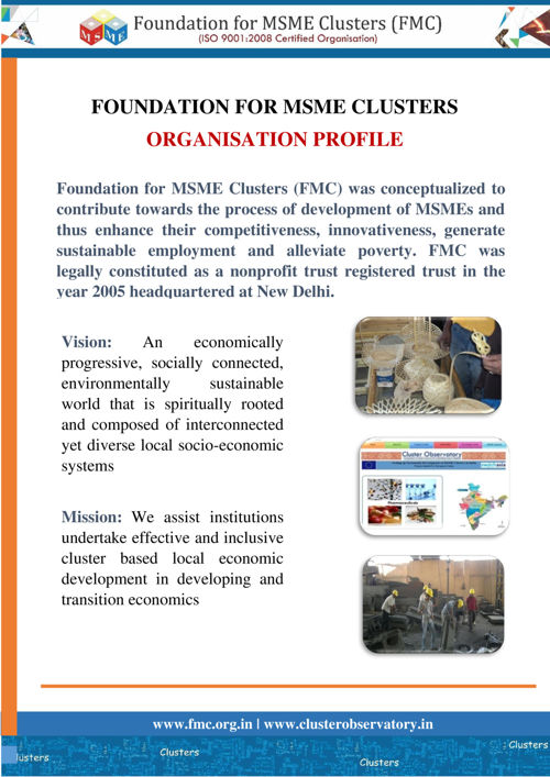 Foundation for MSME Clusters (FMC) Profile