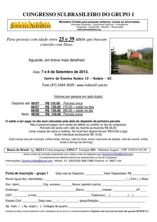 Informativos congressos 2013