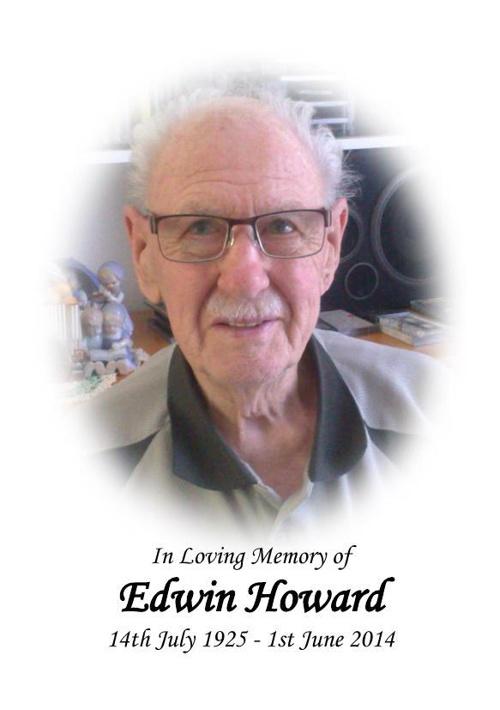 Memorial Card for Edwin Howard
