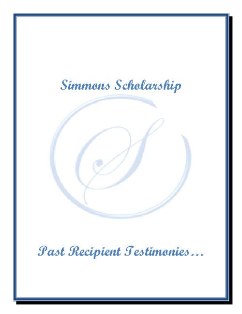 Simmons Scholarship