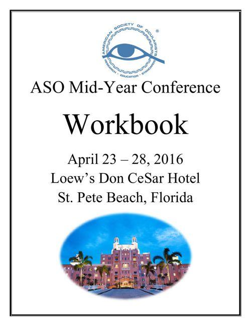 2016 ASO MID-YEAR WORKBOOK