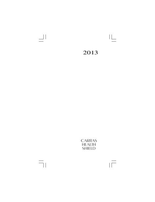 Caritas Health Shield 2013 Planner