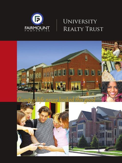 University Realty Trust Brochure