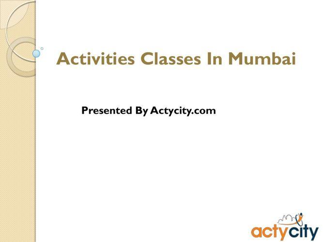 Activities Provider - Actycity- Mumbai-Pune