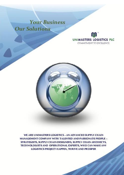 Unimasters Logistics SRL - Brochure 2012