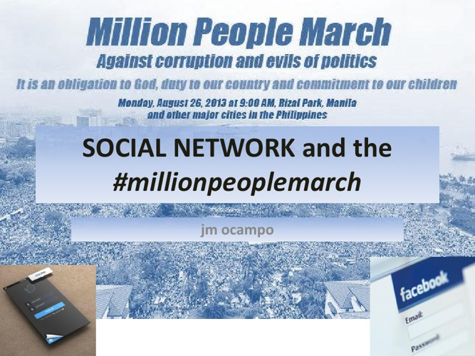 Social Media and #millionpeoplemarch