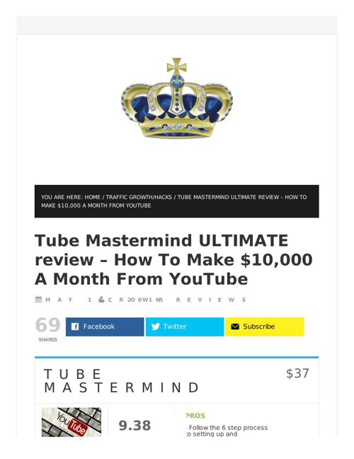 Tube Mastermind review in detail and massive bonuses included