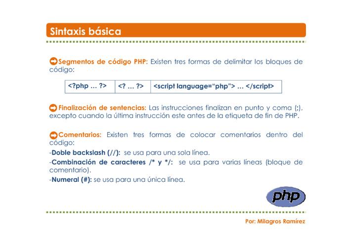 Elementos PHP