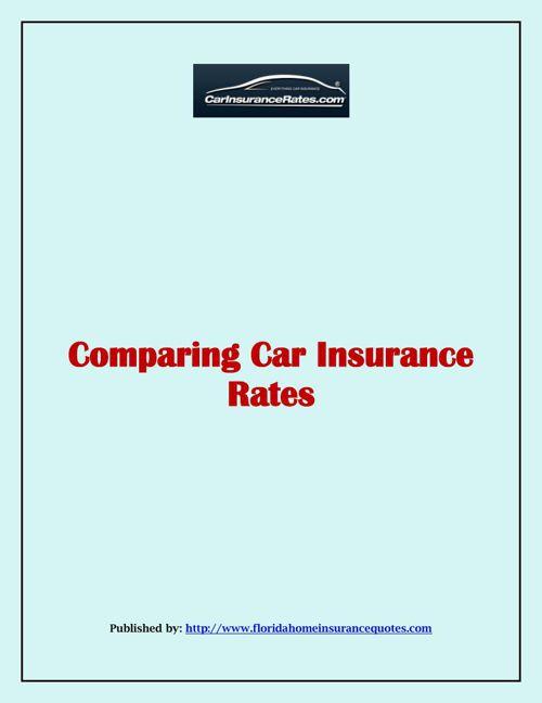 Comparing Car Insurance Rates
