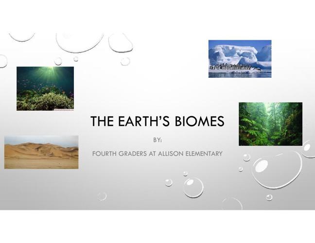 The Earth's Biomes pdf