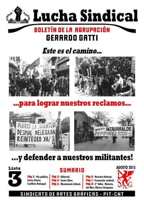 Agrupación Gerardo Gatti Boletin agosto 2015