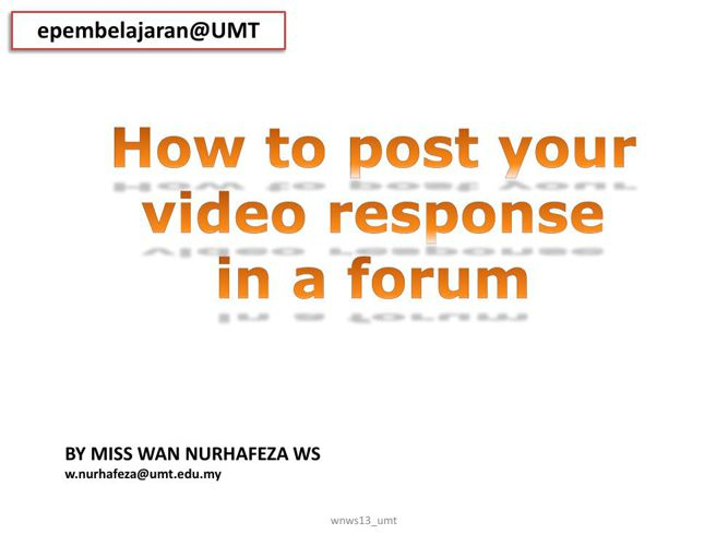 How to post your video [general]2015