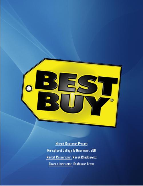 Best Buy Market Research Project