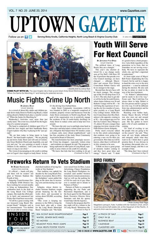 Uptown Gazette     June 20, 2014