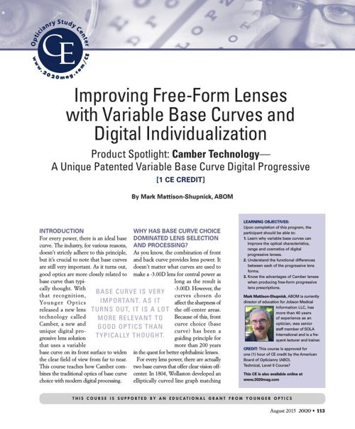Continuing Education - Variable Base Curve