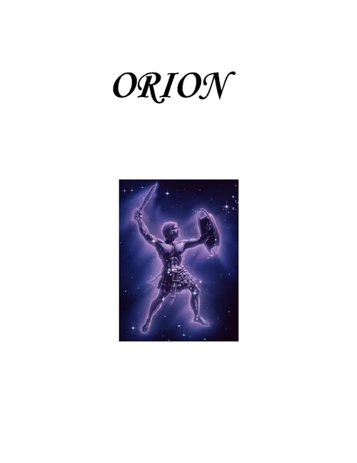 The Book of Orion