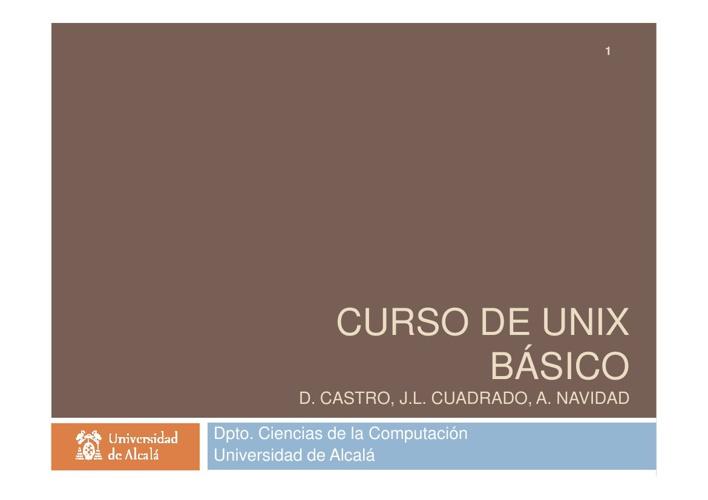 UNIX basico - Transparencias curso presencial