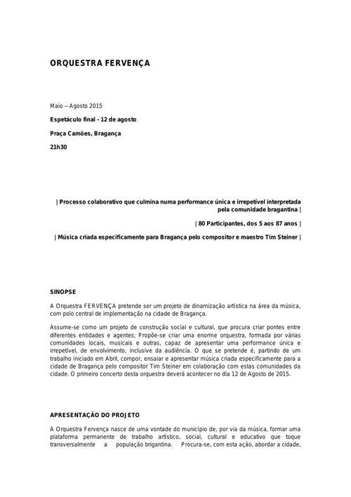 Orquestra Fervença_DossierImprensa