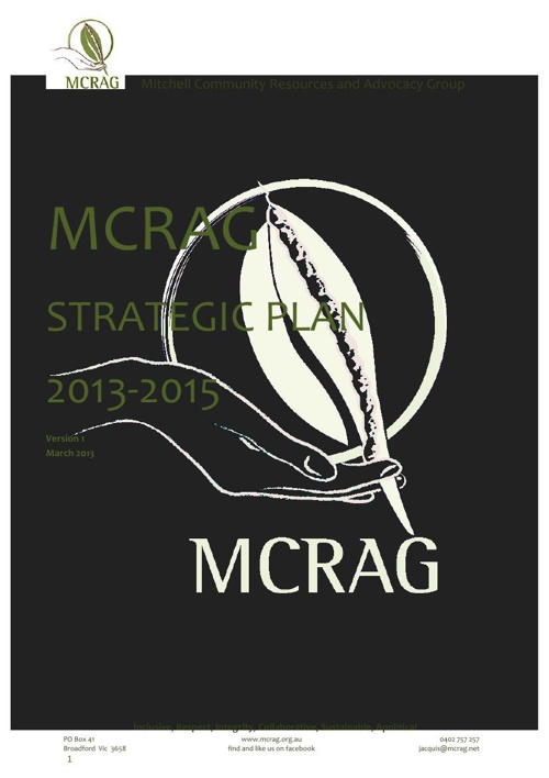 MCRAG Strategic Plan 2013- 2015