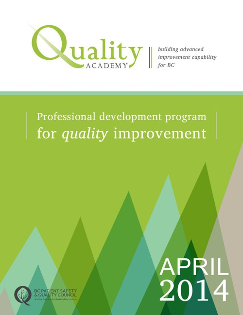 Quality Academy Cohort 9 Brochure