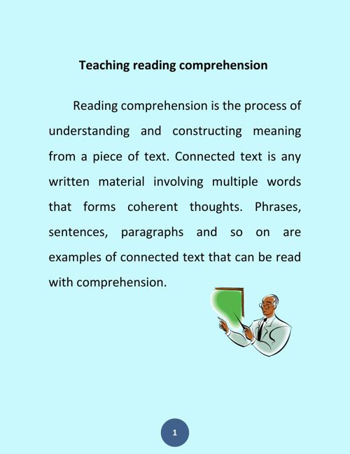Teaching reading comprehension 2/2