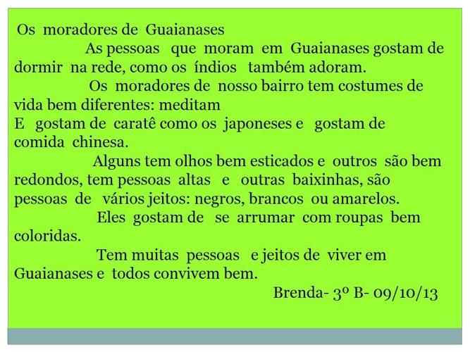 O moradores de Guaianases