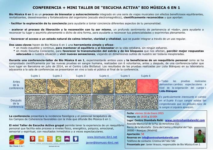16/ENE/2015 Presentación + MINI TALLER ESCUCHA ACTIVA con BM6in1