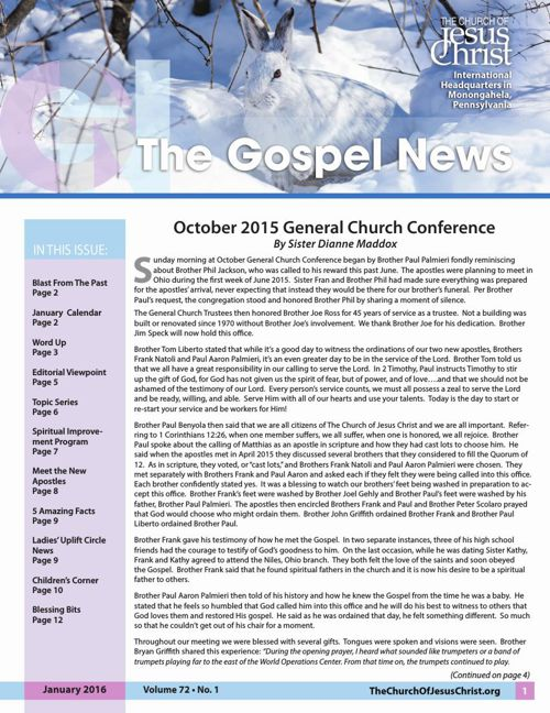Gospel News January 2016