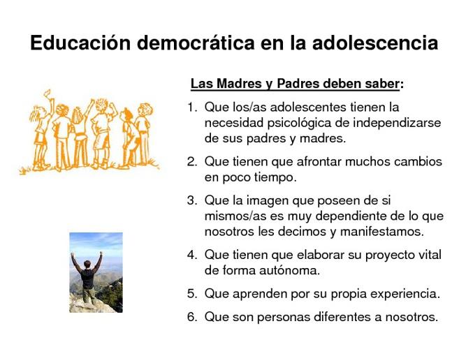 EDUCACION DEMOCRATICA EN LA ADOLESCENCIA
