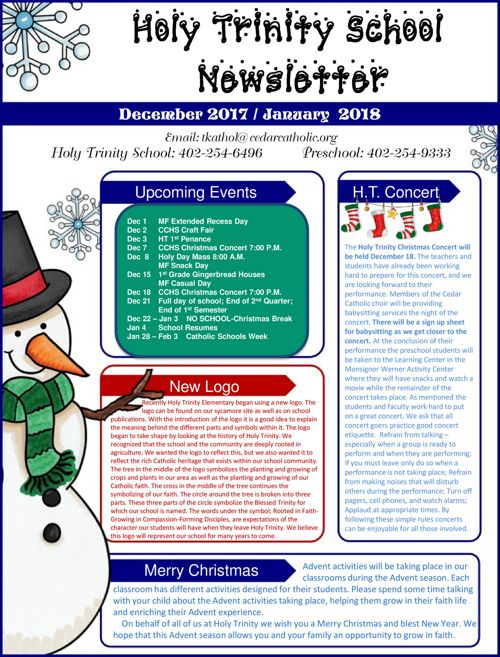 HT Dec Jan Newsletter 2017-18