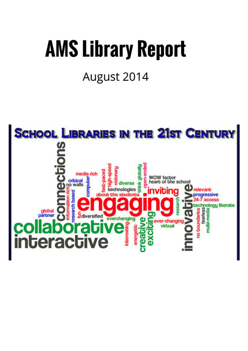AMS Library August 2014 Report