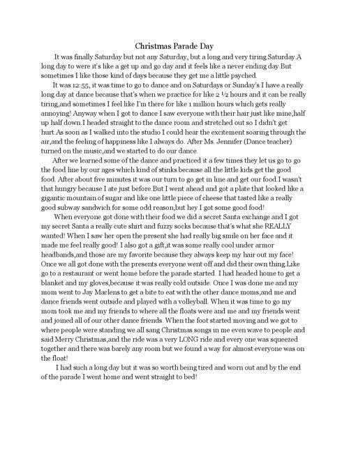 middle school Diaries: Daniella  Goff