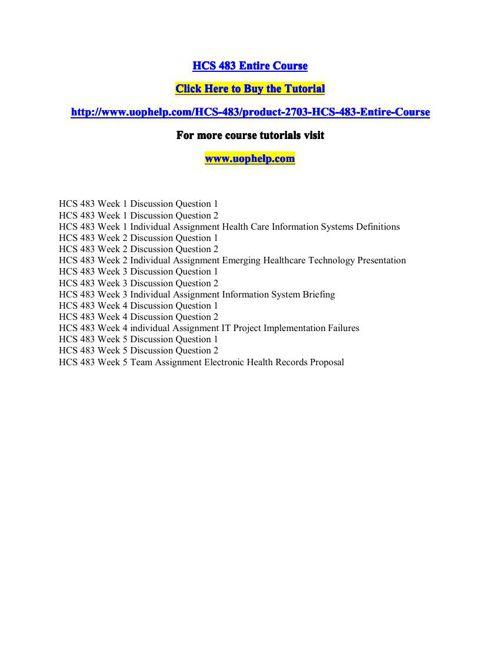 HCS 483 Squared Instruction/uophelp