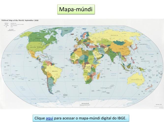 Ciências Mapa-mundi