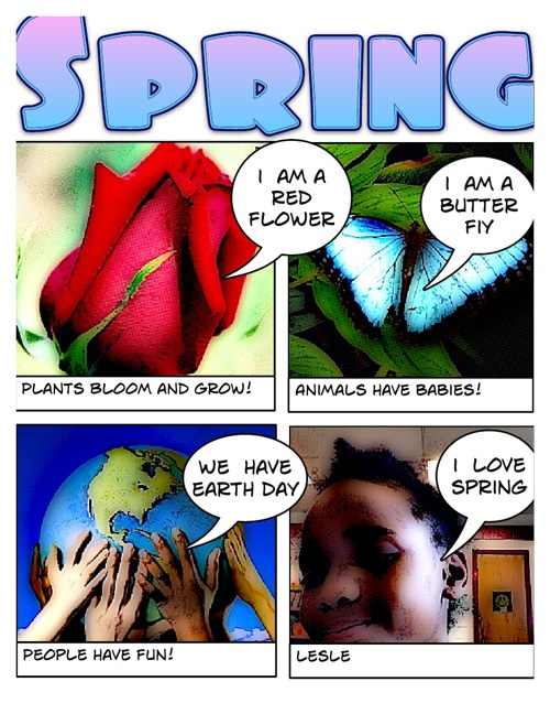 1st Grade Spring Comic
