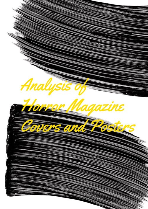 Horror Posters and Magazine Cover Analysis