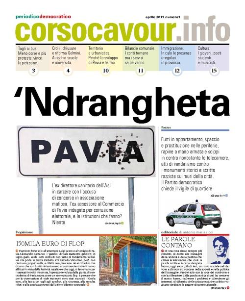 Corsocavour.info periodico del PD di Pavia: aprile