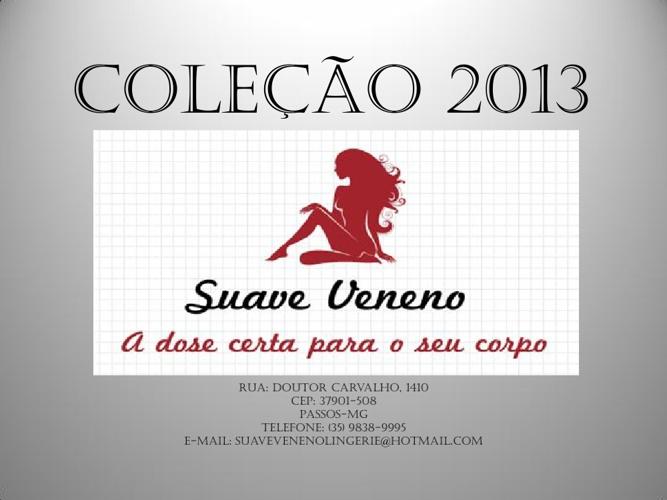 COLEÇÃO 2013 NOVA