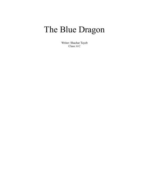 Blue dragon is